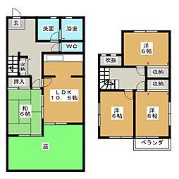 [テラスハウス] 愛知県名古屋市天白区元八事3丁目 の賃貸【/】の間取り
