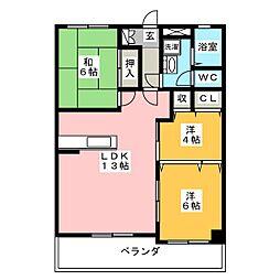 第3浮羽ビル[6階]の間取り