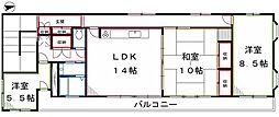東京都武蔵野市緑町1丁目の賃貸マンションの間取り