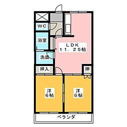ラフォーレ若草[3階]の間取り