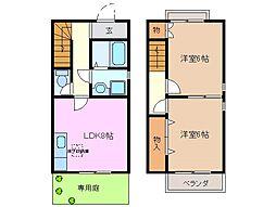 [テラスハウス] 三重県桑名市大字北別所 の賃貸【/】の間取り