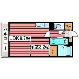 レガートタワー月寒中央[11階]の間取り