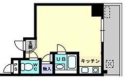 香川県さぬき市志度の賃貸マンションの間取り