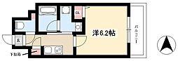 ディアレイシャス新栄 7階1Kの間取り