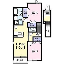 クレメントヒルB棟[2階]の間取り
