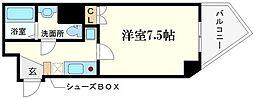ORYZA肥後橋 13階1Kの間取り