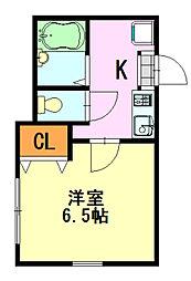 千葉県千葉市中央区葛城2丁目の賃貸アパートの間取り