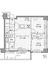 サンウエスト横浜[204号室]の間取り
