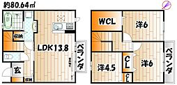フローラ本城 A棟[2階]の間取り
