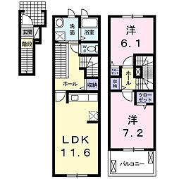 プライム ガーデン[2階]の間取り
