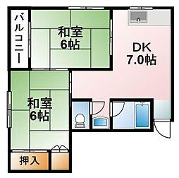 千葉県茂原市西野の賃貸アパートの間取り