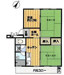 神奈川県横浜市戸塚区戸塚町の賃貸マンションの間取り