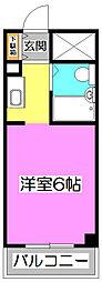 カレッジハイツ朝霞I[1階]の間取り