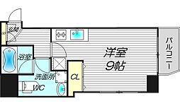 ライブコート北梅田[7階]の間取り
