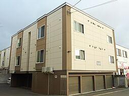 北海道江別市大麻扇町の賃貸アパートの外観