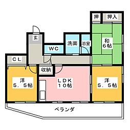 第5梅野ビル[4階]の間取り