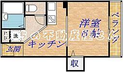 レジデンス太子橋[1階]の間取り