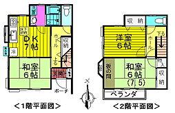 [テラスハウス] 東京都八王子市大楽寺町 の賃貸【東京都 / 八王子市】の間取り