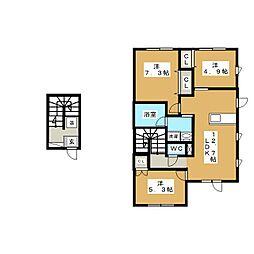 ドリームハウス南佃[2階]の間取り