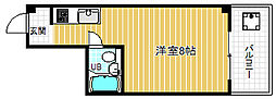 大阪府大阪市北区同心2丁目の賃貸マンションの間取り