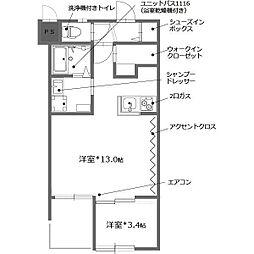 Steady稲田本町[3階]の間取り
