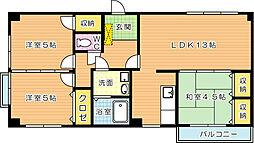 リリーフ浅川II[2階]の間取り