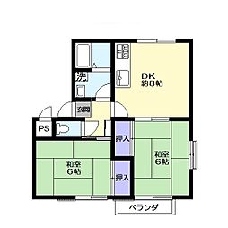 ソレイユ1階Fの間取り画像