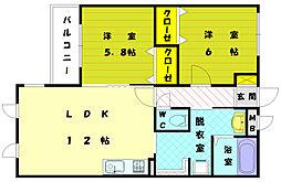 メゾンレーヴCC[2階]の間取り
