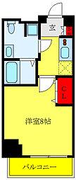 エテルヴォ三ノ輪ステーションフロント 3階1Kの間取り