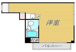 東京都新宿区早稲田鶴巻町の賃貸マンションの間取り