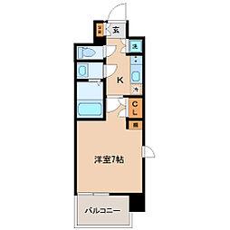 エルスタンザ仙台上杉 7階1Kの間取り