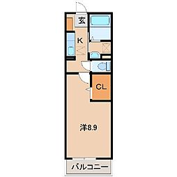 和歌山県和歌山市三沢町1丁目の賃貸アパートの間取り