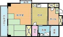サンシャイン石田[202号室]の間取り