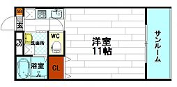 メディアビル[4階]の間取り