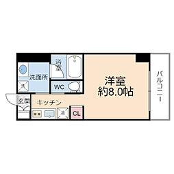 JO-KITA TERRACE 2階1Kの間取り