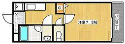 エーワン池浦[211号室]の間取り