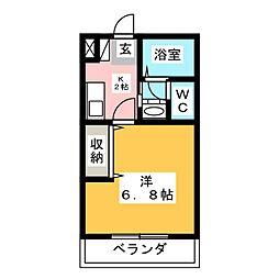アインバウム[1階]の間取り