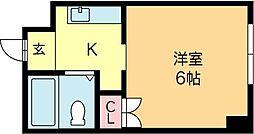 北海道札幌市北区北十四条西4丁目の賃貸マンションの間取り