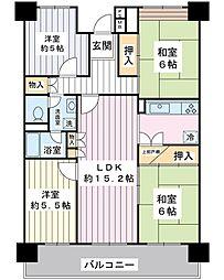 入船東エステート1号棟[11階]の間取り