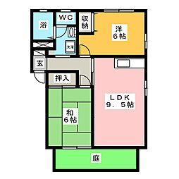 イスタナイマオカ C棟[1階]の間取り