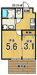 nico西京極[106号室]の間取り
