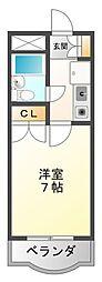 ベルカンポ曙[4階]の間取り