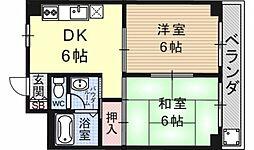 第16洛西ハイツ瀬田[401号室号室]の間取り