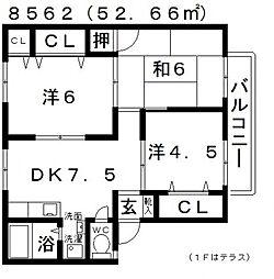 ALLEY島泉131(アレイ島泉131)[B205号室号室]の間取り