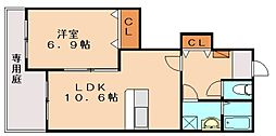 CENTURY椿 D[1階]の間取り