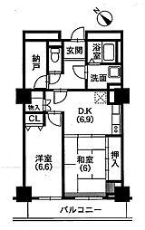 イーステージ浜松タワー[406号室]の間取り