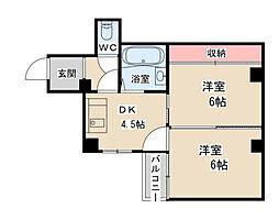 エスポワール大黒[5階]の間取り