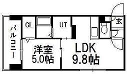 サンコート円山ガーデンヒルズ[4階]の間取り