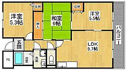 ルミネノヴァ菊田[5階]の間取り