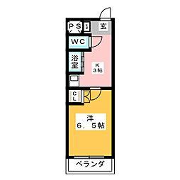 T-room栄[2階]の間取り